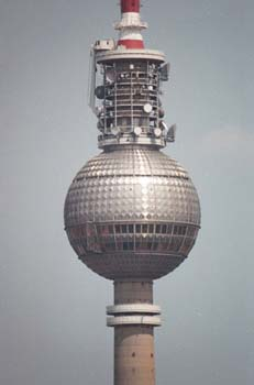 Bild von Berlin Kreuzreflektion im Berliner Fernsehturm