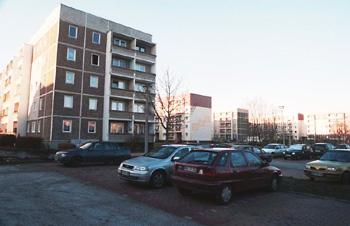 Bild von Oranienburg Plattenbauten Gartenstraße